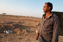 10-02-2016 - Bedouin farmer Aziz al-Touri, trying to save his village, Al-Araqib, Negev Desert, Israel, which has been demolished over 110 times since 2010 by Israeli authorities seeking to evict the Bedouins from... © Joanne O'Brien