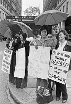 25-06-1979 - Chambermaids strike, Grosvenor House Hotel, Park Lane, Mayfair, London 1979 after 30 of them were sacked and evicted from their living in accommodation © NLA
