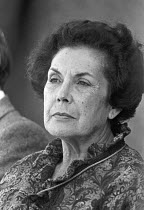 16-09-1979 - Hortensia Allende, wife of Salvador Allende, London 1979 to mark the overthrown of the Allende government in Chile by military coup supported by the CIA © NLA