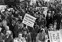 07-03-1979 - Workers protest at closure of Dunlop factory, Speke, Liverpool 1979 © Peter Arkell