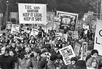 28-10-1979 - Protest against the Corrie anti-abortion bill London 1979 in support of a womans right to choose © Peter Arkell