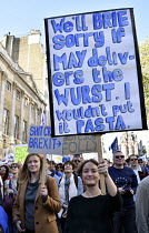 20-10-2018 - Peoples Vote March for the Future. London protest demanding a second referendum on the Brexit deal © Stefano Cagnoni