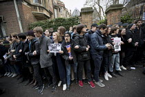 16-11-2018 - Students protest against Steve Bannon speaking at the Oxford Union, Oxfordshire. More than 100 people demonstrated in a protest organised by Oxford University, Oxford Brookes students and Stand Up to... © Jess Hurd