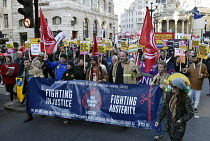 17-11-2018 - Stand Up To Racism protest London, FBU members © Stefano Cagnoni
