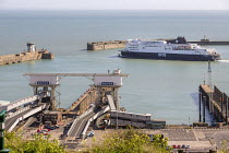 06-04-2017 - DFDS ferry departing from the Port of Dover © Paul Box