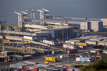 07-04-2017 - Lorries disembarking from P&O ferry, The Port of Dover © Paul Box