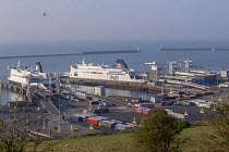 07-04-2017 - P&O ferries docked at the Port of Dover © Paul Box