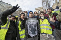 08-12-2018 - Paris, France Yellow Vest movement protest, Champs Elysees area © Jess Hurd