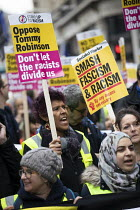 09-12-2018 - Counter protest against Tommy Robinson UKIP in London, Unite Against Racism and Fascism © Jess Hurd