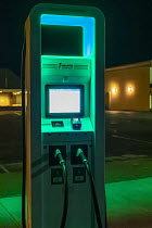 12-22-2018 - Nebraska, USA, Electrify America electric vehicle charging station. VW launched Electrify America as part of its $2 billion settlement with the EPA and CARB over the Dieselgate scandal © Jim West