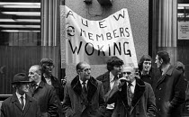22-10-1973 - Con Mech dispute 1973. AUEW protest against fines imposed under the National Industrial Relations Act for trade union blacking of Con Mech for refusing union membership © Peter Harrap