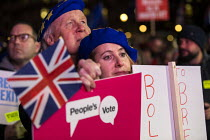 15-01-2019 - Peoples Vote protesting as Parliament votes on Brexit deal, Westminster © Jess Hurd