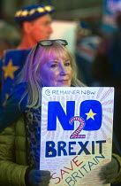 15-01-2019 - Remain protest as Parliament prepares to vote on Brexit, Westminster, London © Stefano Cagnoni