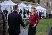 15-01-2019 - Angela Rayner MP being interviewed, College Green as Parliament prepares to vote on Brexit, Westminster, London © Philip Wolmuth