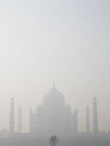 08-11-2018 - Air pollution in India, The Taj Mahal in thick smog, Agra. Air pollution in India is a serious issue with the major sources being fuelwood and biomass burning, fuel adulteration, vehicle emission and... © Martin Mayer