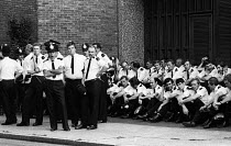 18-06-1978 - Police officers taking a break from policing an Anti Nazi League protest London 1978 © John Sturrock