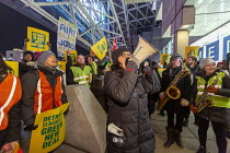 18-01-2019 - Detroit, Michigan, USA. GM workers protest closure of five factories at the North American International Auto Show for a Green New Deal. Newly elected Congresswoman Rashida Tlaib speaking © Jim West