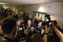 18-02-2019 - Labour split. Press chaos, seven Labour MPs leaving press conference following their resignation from the Labour Party to form The Independent Group. The seven MPs are Chris Leslie, Mike Gapes, Angela... © Stefano Cagnoni