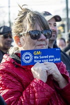 22-02-2019 - Warren, Michigan, USA: UAW union prayer vigil to protest the planned closure of General Motors Warren Transmission plant © Jim West