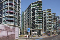 26-02-2019 - Riverlight Quay development, Nine Elms regeneration zone, London. The zone will include two new tube stations, the new US Embassy building, and 20,000 new homes with prices up to ?million. © Philip Wolmuth