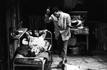20-02-1963 - The Blood Knot by Athol Fugard, 1963, New Arts Theatre, Hampstead, London. Ian Bannen as Morris and Zakes Mokae as Zacharia. When first staged in South Africa 1961 the play was the first to feature a... © Alex Low