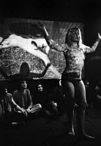 14-02-1969 - Sheila Allen, Vagina Rex and The Gas Oven 1969, Drury Lane Arts Lab, London. The play by Jane Arden was the first Womens Liberation Movement play to be staged in UK © Romano Cagnoni
