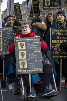 09-03-2019 - Million Women Rise protest for an end to male violence against women and girls in all its forms , Westminster, London © Jess Hurd