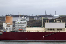 18-03-2019 - LNG tanker Al Mayeda, Milford Haven, Pembrokeshire, Wales. South Hook LNG © John Harris