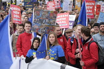 23-03-2019 - People's Vote march, London. Dutch Young Socialists in the PvdA (JS) Green New Deal and for a second EU referendum © Philip Wolmuth