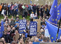 23-03-2019 - People's Vote march, London. For a second EU referendum. Less Farage More Fromage © Philip Wolmuth