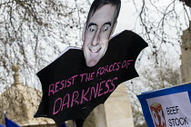 23-03-2019 - People's Vote march, London. For a second EU referendum. Satire of Jacob Rees-Mogg MP of the ERM Group © Martin Mayer