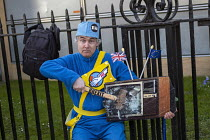 29-03-2019 - Pro Brexit protests on the day the UK was meant to leave the EU, Westminster, London. Thunderbirds theme © Jess Hurd