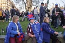 29-03-2019 - Pro Brexit protest outside Parliament on the day the UK was scheduled to leave the EU, Westminster, London © Philip Wolmuth