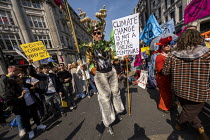 15-04-2019 - Extinction Rebellion protest Oxford Circus against lack of government action on climate change. Nonviolent direct action simultaneous blocking London © Jess Hurd