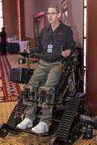 20-04-2019 - Mt. Pleasant, Michigan, USA, Action Trackstander an all terrain motorized wheelchair built by Action Trackchair for disabled veterans and others who want to remain active outdoors. 420 Canna Expo, a t... © Jim West