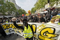 01-05-2019 - Paris, May Day, Yellow Vest and trade unions protest, International Workers Day, France © Jess Hurd