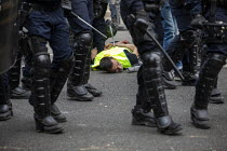 01-05-2019 - Paris, May Day, Riot police, Yellow Vest and trade unions protest, International Workers Day, France © Jess Hurd