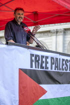 11-05-2019 - Kevin Courtney NEU speaking National Demonstration for Palestine, London © Jess Hurd