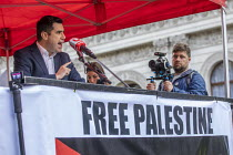 11-05-2019 - Richard Burgon MP speaking National Demonstration for Palestine, London © Jess Hurd