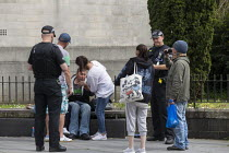 15-05-2019 - Police moving on street drinkers, Merthyr Tydfil, South Wales © John Harris