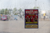 15-05-2019 - Advertisment for boxing match, Bus station, Merthyr Tydfil, South Wales © John Harris