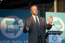 15-05-2019 - Nigel Farage speaking Brexit Party Rally, Merthyr Tydfil, South Wales © John Harris