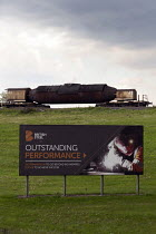 22-05-2019 - British Steel Scunthorpe. Greybull Capital has put British Steel into receivership. Lincolnshire. Advertisment for Outstanding Performance © John Harris