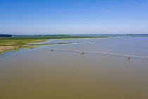 14-09-2017 - Yazoo County, USA, Mississippi Delta flooding. Irrigation system on a flooded farm. High volume of spring rainfall has caused widespread flooding of farmland preventing the planting of crops © Jim West
