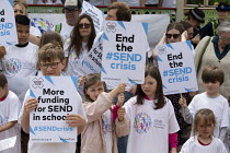 30-05-2019 - Protest at SEND funding cuts by families with children who have special educational needs and disabilities, Leamington Spa © John Harris