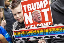 04-06-2019 - Young, gay and angry, Together Against Trump, stop the state visit protest against Donald Trump, London © Jess Hurd