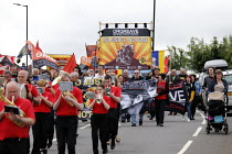 15-06-2019 - Unite Brass Band, Orgreave 35th Anniversary Rally, Orgreave, Sheffield, South Yorkshire © John Harris