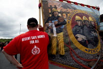 15-06-2019 - FBU, Decent SAFE Homes for All, Orgreave 35th Anniversary Rally, Orgreave, Sheffield, South Yorkshire © John Harris