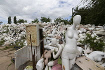 20-06-2019 - Dollywood mannequin recycling centre. Mannakin refurbishes the mannequins for hire and resale so they do not go to landfill as waste, nr Grantham. The centre has around 10,000 dummies © John Harris