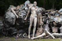 20-06-2019 - Dollywood mannequin recycling centre. Fire damaged figures. Mannakin refurbishes the mannequins for hire and resale so they do not go to landfill as waste, nr Grantham. The centre has around 10,000 du... © John Harris
